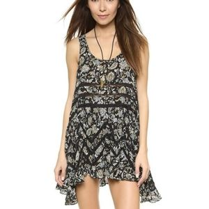 S Intimately Free People Floral Trapeze Tunic Top